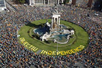 У Барселоні 600 тисяч каталонців вимагали незалежності – найменше з 2012 року